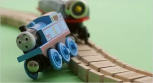 tåg som spårar ur